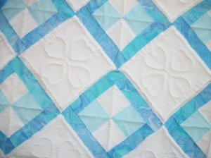 Dazzling Blue Infant Quilt From artsyEVE