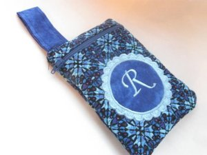 Dazzling Blue Women's Purse Monogrammed From BeadsandThreadsbyAmy