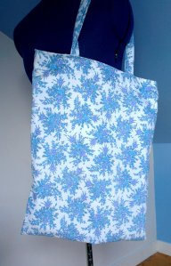 Dazzling Blue Floral Tote Bag From DayDreamsSunshine