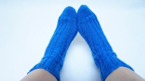 Dazzling Blue Hand Knitted Womens Socks From feltinga