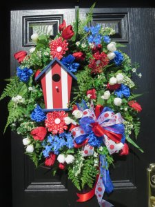 Dazzling Blue Wreath From hollyhillwreaths