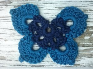 Dazzling Blue Butterfly Hair Tie From muttix
