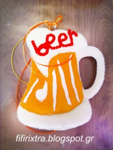 Beer Holic! Handmade Felt Toy From fifirixtra