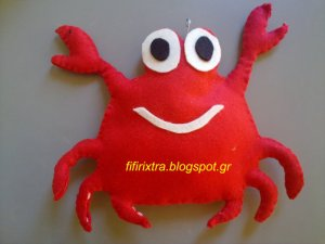 Crab Handmade Felt Toy From fifirixtra