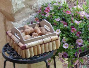 Wine Cork Wood Crate From Corkycrafts