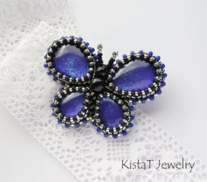 Tanzanite Butterfly Brooch From KistaTJewelry