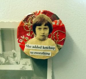 Food Art Fridge Magnet for Ketchup Lovers From rhodyart