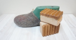 SALE Wet felting tool for slippers shoes boots wooden supply craft projects shoemaking oak alder device equipment washboard $9.00 USD