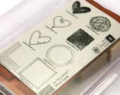Valentine Heart Stamps, Stampin' Up Rubber Stamps, Much Love Set, Greeting Card Stamps, Wedding Favor Stamps, Gifts For Her, New Stamp Set $18.00 USD
