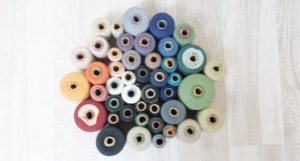SALE 45 Huge lot cotton Yarn spool supply sewing thread Soviet Vintage Retro USSR Russian 1980s set lot bulk white black blue orange green $22.50 USD