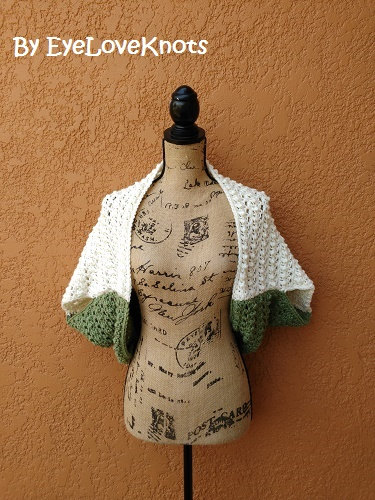Bead & Lace Cocoon Shrug-Sage and Ivory