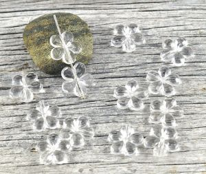 Clear Faceted Loose Flower Acrylic Beads